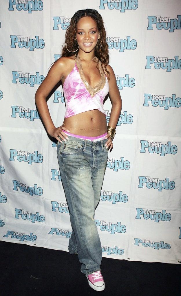 Rihanna antes: