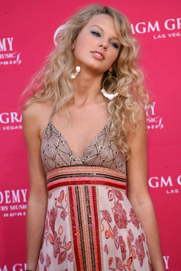 Taylor Swift antes: