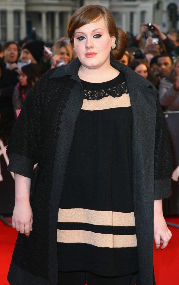 Adele antes: