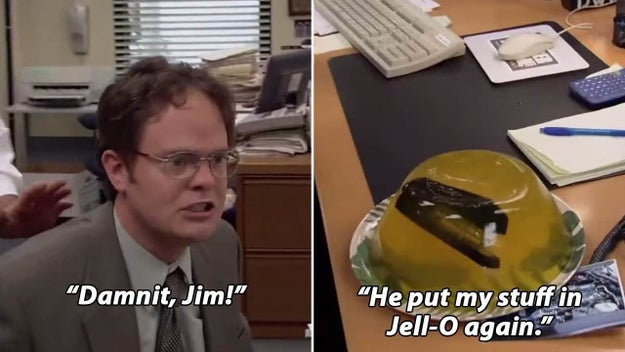 When Dwight had to de-Jell-O all of his office supplies: