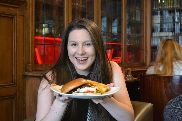 For a very long and torturous year the Halloumi Burger was off the Library Bar's menu. Until Vice-Pres Services Jenna finally got the the greatly craved, truly missed burger back for us!