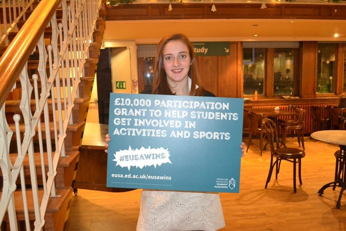 Uni offers a lot of great activities and sports but buying equipment or uniforms can be very expensive! Until Vice President Societies & Activities Jess got us a £10,000 Participation Grant that is!