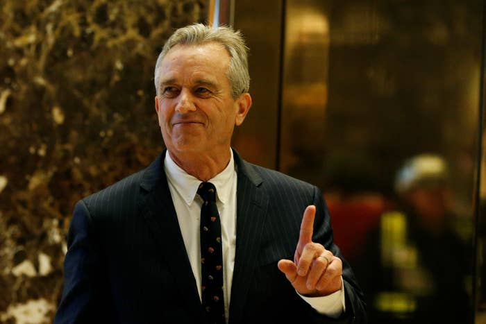Robert F. Kennedy Jr. entering the lobby of Trump Tower on January 10.