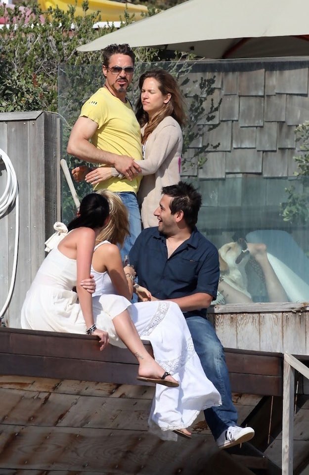 On Wednesday, radio host Jamie East tweeted out this paparazzi photo of Robert Downey Jr. and friends. Seems innocuous enough, right?