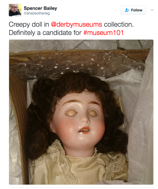 It's from the Derby Museums Charitable Trust in case you were looking for a place to avoid.