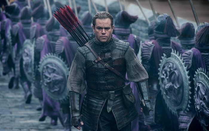 Matt Damon in The Great Wall.