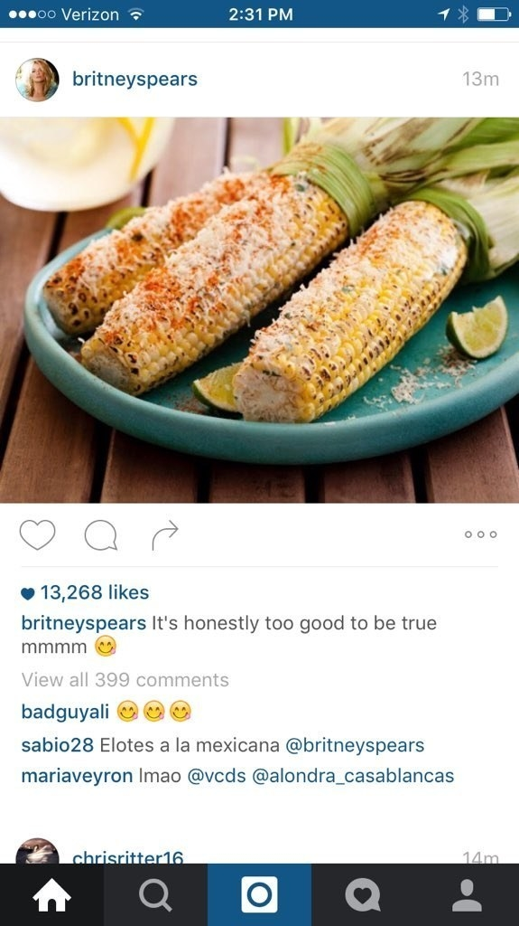 64. Googled a picture of corn to post to Instagram.