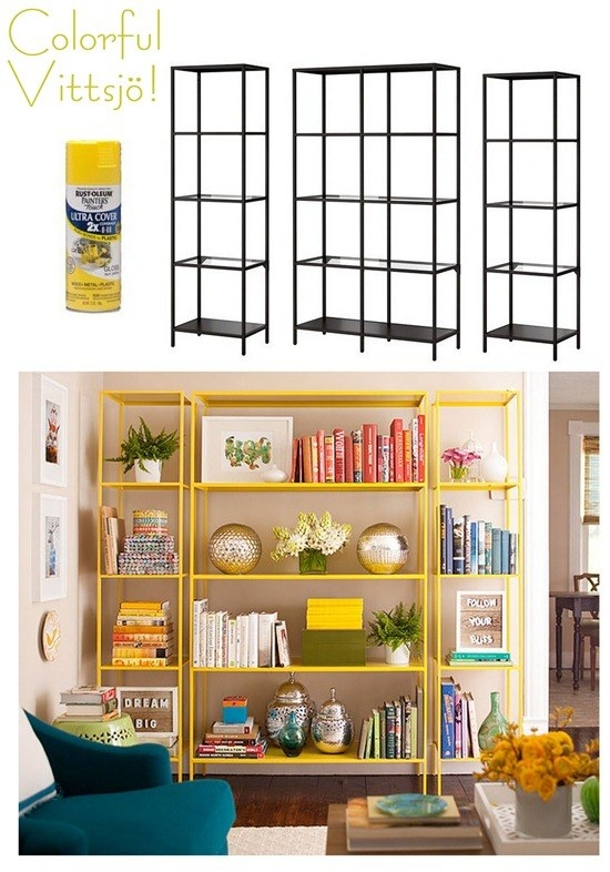Transform a simple shelving unit into the bookcase of your dreams with spray paint. Swoon.