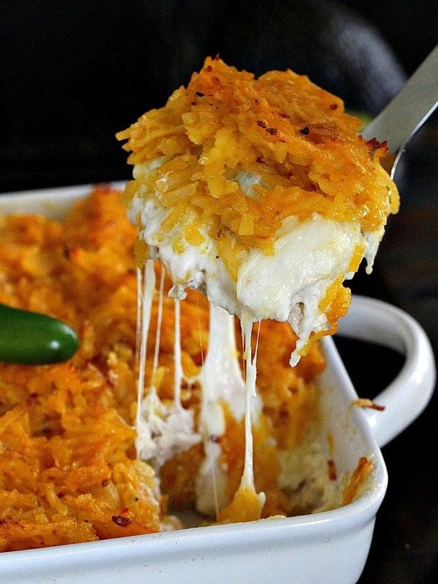 Hash Brown Chicken Jalapeño Casserole