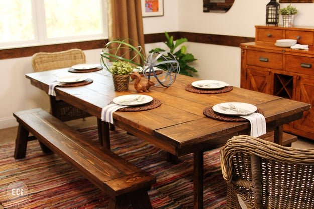DIY a farmhouse style table and start loving dinner even more than you already do.