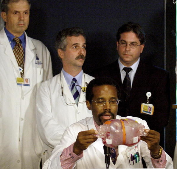 Dr. Ben Carson: the only neurosurgeon to successfully separate twins conjoined at the head, and the first to perform intrauterine neurosurgery on a fetus in the womb.