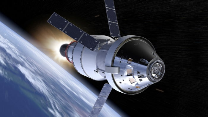Artist depiction of EM-1 mission.