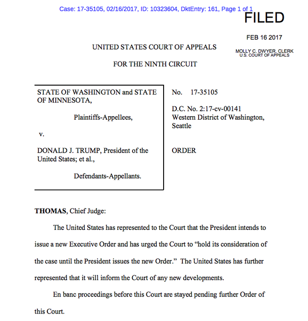 And here's the court order putting their actions on hold: