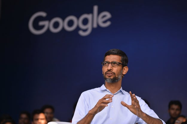 """Now, obviously the """"boss"""" she was referring to is Google CEO Sundar Pichai."""