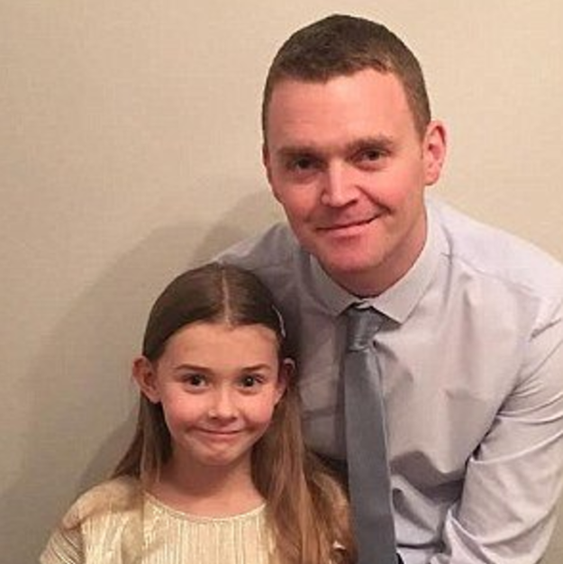 This is Chloe Bridgewater, a 7-year-old girl from the UK, and her father Andy.