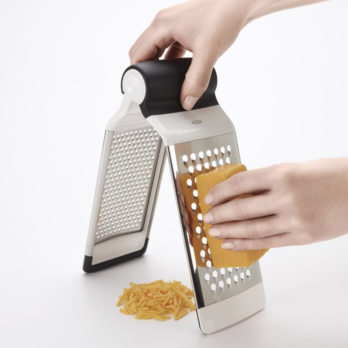 """Promising review: """"You can slip the two sides from each other and use them individually. This means you can use these as a flat grater as well as a 'box' grater, which I like because you can grate over a bowl or whatever if you need to. It also makes it super easy to clean, especially in comparison to a regular box grater."""" —Kacie L.Price: $12.99 // Rating: 4.6/5"""