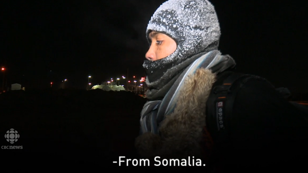 "The man revealed that his name was Mohamed. He said he was originally from Somalia, and that he had started walking ""in the morning"" intending to cross into Canada. Temperatures fell to -17 degrees Celsius when he was stopped near Emerson, Manitoba."