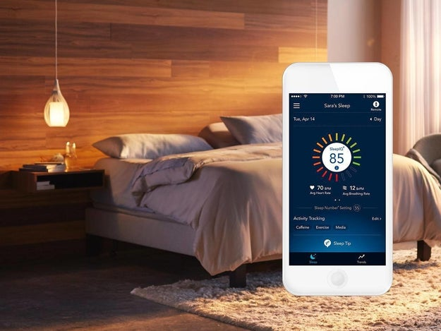 Select Comfort Sleep Number lets you change the firmness of the bed with just a click.