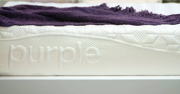 Purple uses a super stretchy polymer that won't develop body impressions or hold body heat.
