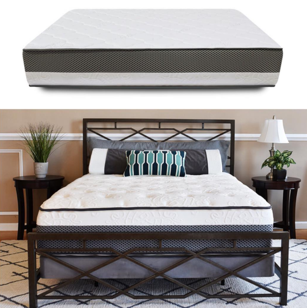Bed in a Box is simply constructed and made from gel-memory foam and a firmer support base foam.