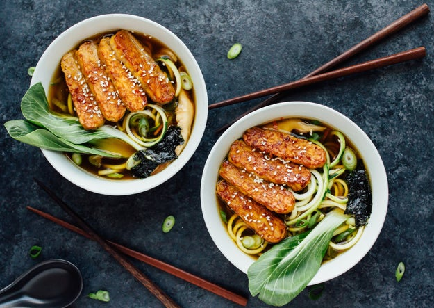 Using zucchini in the place of noodles can actually speed up the cook time of your regular ramen recipe. Get the recipe here.