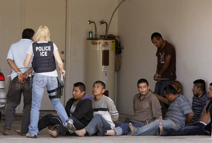 Nine suspected illegal immigrants are detained by ICE in Arizona.
