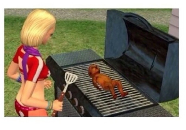 This baby that got grilled: