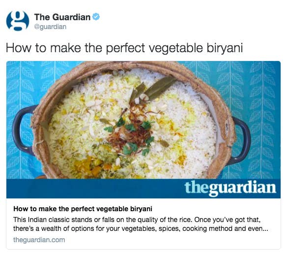 The guardian posted a perfect veg biryani recipe and non on february 16 the guardian published a recipe for the perfect vegetable biryani a controversial dish that any self respecting non vegetarian will tell forumfinder Image collections