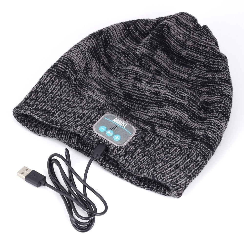 7917359135b This wireless Bluetooth beanie that will keep you connected to your music