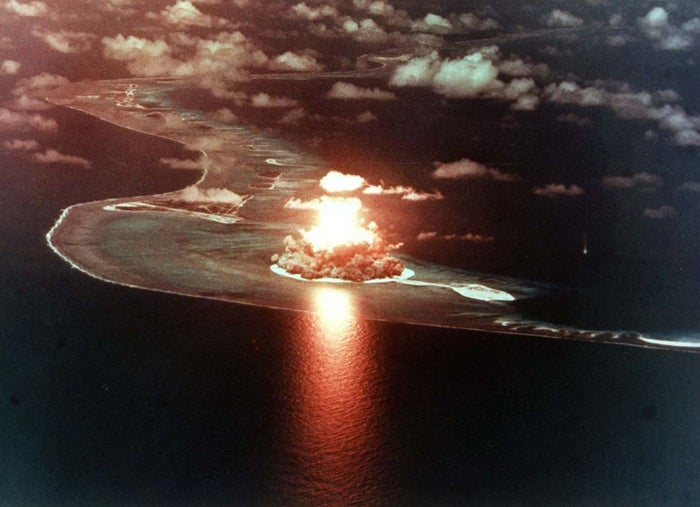 """On 22 September 1979, an orbiting American Vela satellite spotted an unidentified """"double flash"""" of light near the remote Prince Edward Islands off the coast of Antarctica. No one knows what the light was, but double flash lights are a common characteristic of nuclear tests. But who was testing a nuclear bomb, and why? To this day, no national governments have ever owned up to it. Weird."""