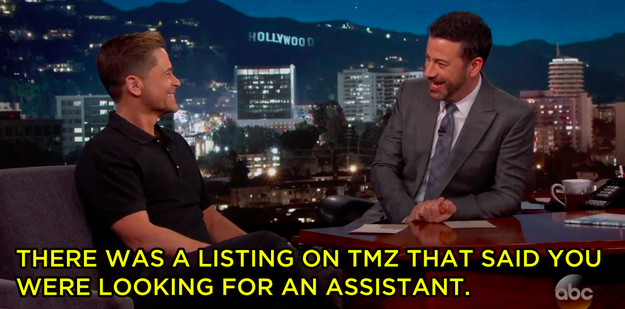 Jimmy brought the list to Rob's attention...
