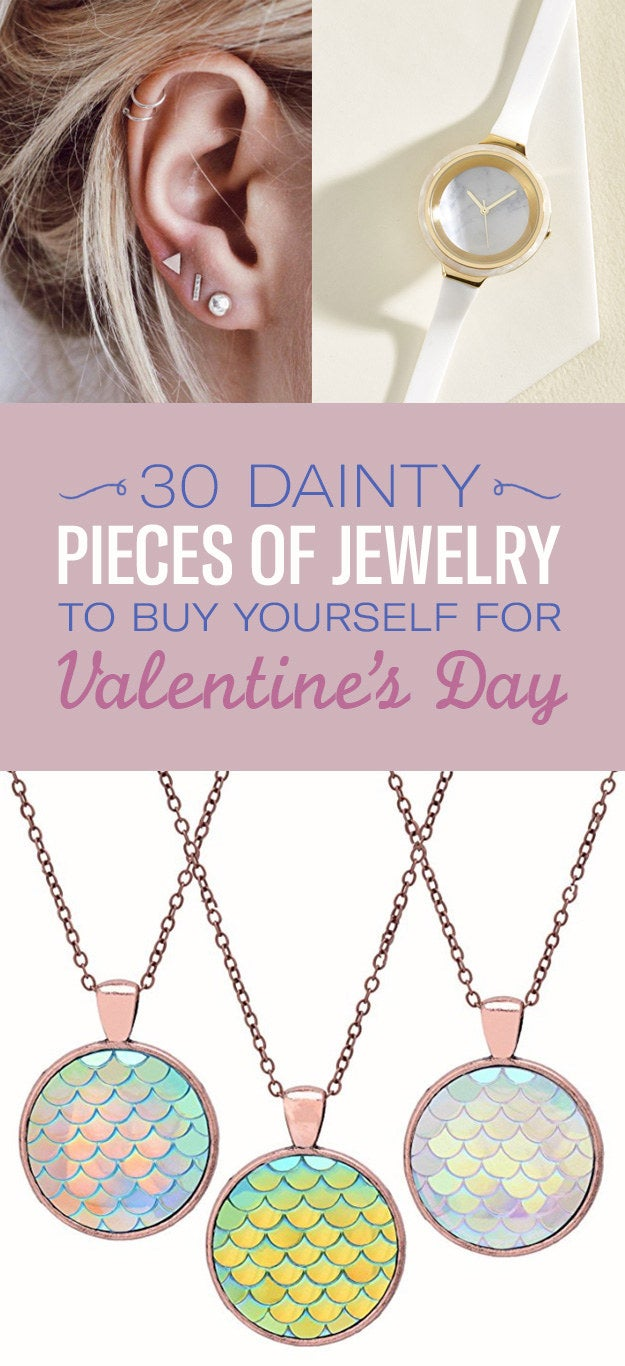 30 Dainty Pieces Of Jewelry To Buy Yourself For Valentine S Day
