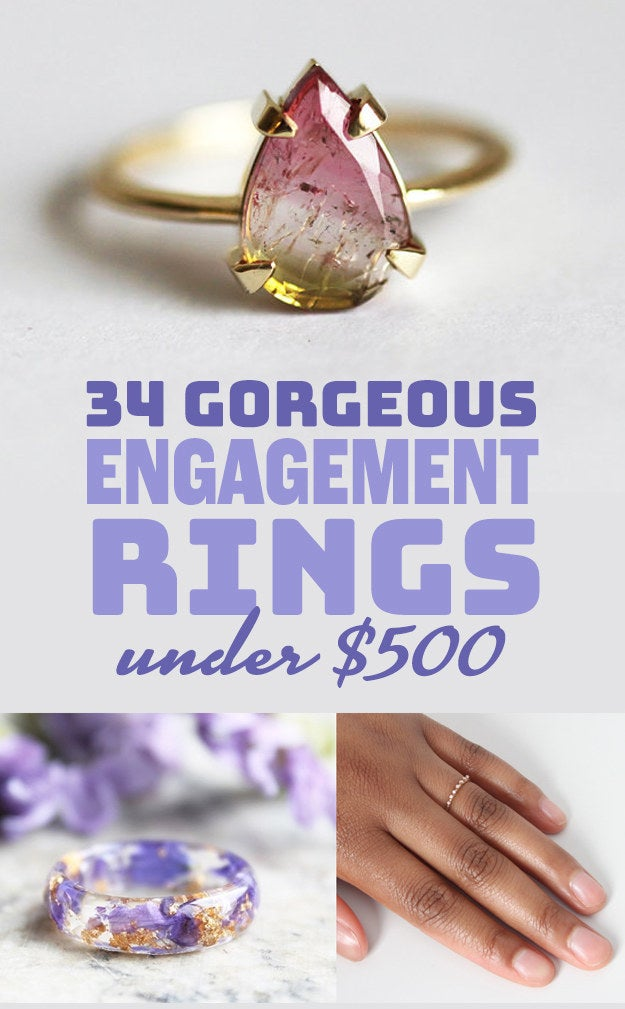 34 Irresistibly Gorgeous Engagement Rings Under 500