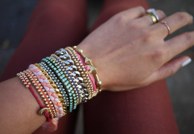 These braided bracelets because your jewelry box is cluttered enough as it is.