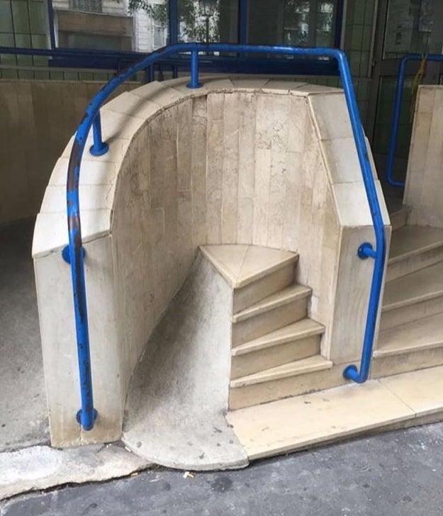 Esto no es una escalera, es una escultura sobre el paso del tiempo.