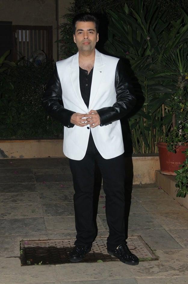 Karan Johar slayed in a monochrome ensemble.