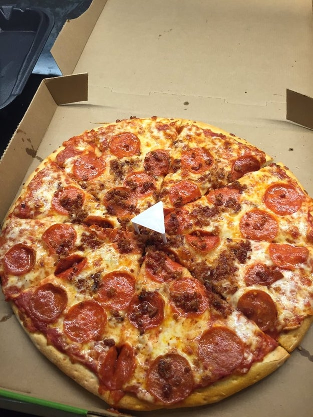 Esta pizza...