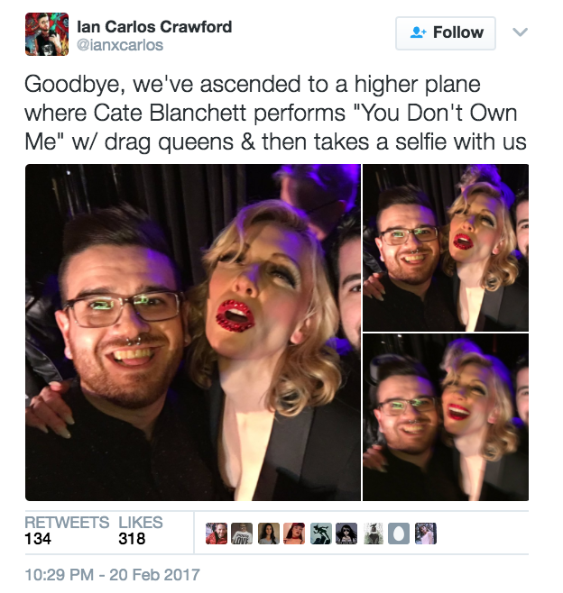 For those who were blessed to be there in the flesh for the one-night-only event, blurry selfies with the queen herself were soon to follow.