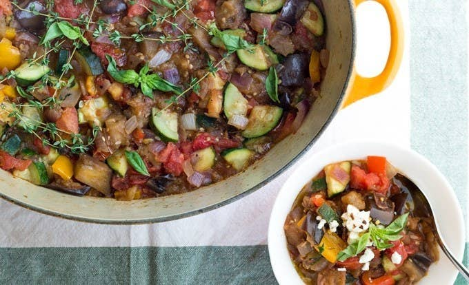 17 easy dinners that you can cook and eat for a whole week chop up a lazy mans ratatouille that tastes even better the next day forumfinder Gallery