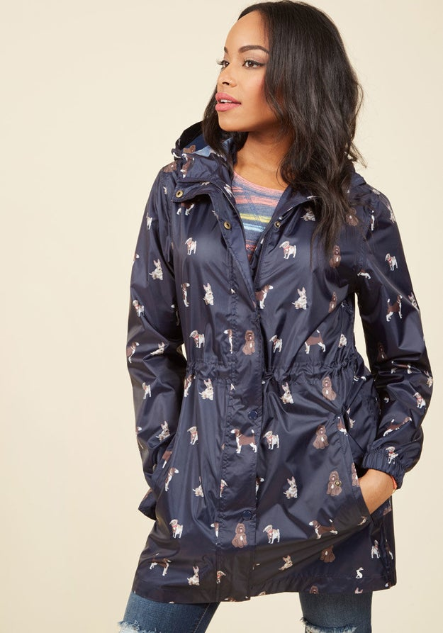 A coat for when it's only raining cats (you bring the dogs).