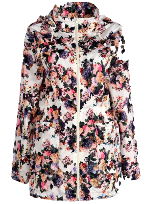 And finally, a floral rain jacket for spring? Groundbreaking.