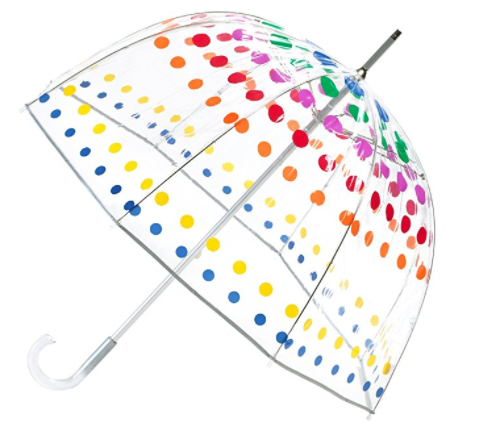 A trusty dome umbrella with some added color.