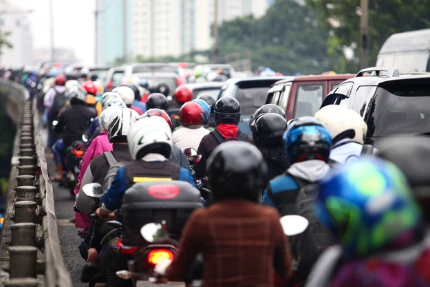 """There is even a motorbike courier service in Jakarta to take breast milk home from your office so your baby can have it while you work."""