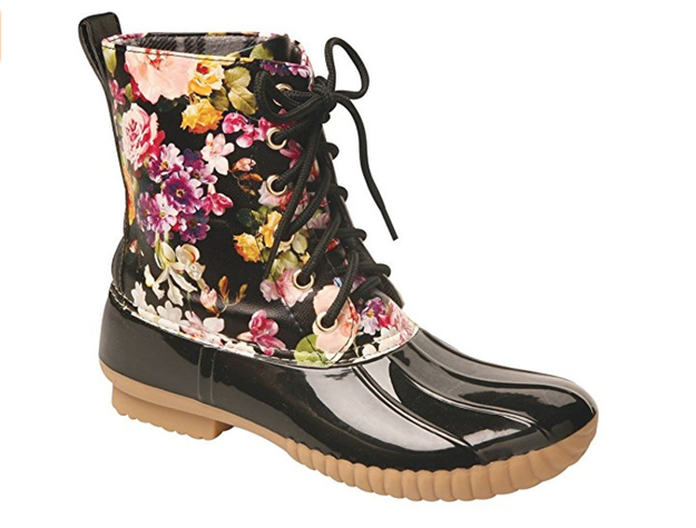 These flower-strewn duck boots.