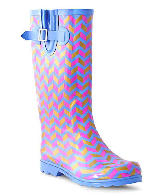 These zigzag boots with plenty of pizzazz.