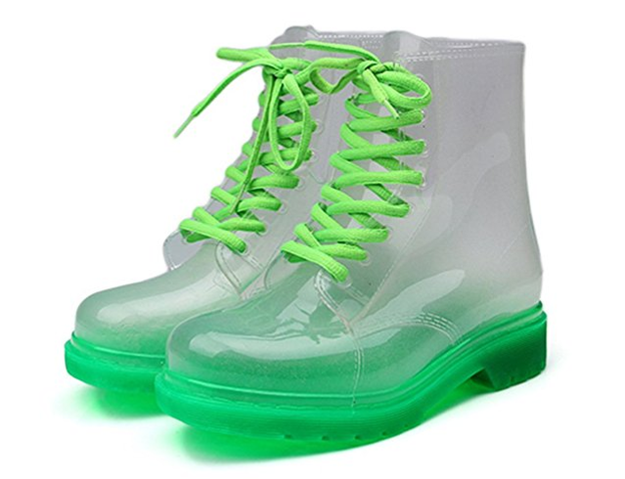These Nickelodeon slime-colored booties to take you all the way back.