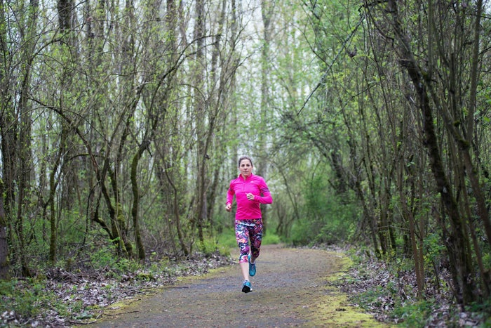 """""""After I finished up my cancer treatments, I laced up my shoes and decided to make running a part of my life. I would go outside and run around the streets of New York City until I couldn't go any more. Those first runs were hard and slow, but after a while they got longer and longer. Running made me feel like I could be strong and powerful again. Now, 10 years later, I have finished 10 Ironman marathons and the Boston Marathon!""""—Laurel"""