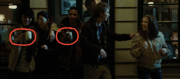 Bella sees her friends leaving the cafe, and for some reason they decide to take the mugs??