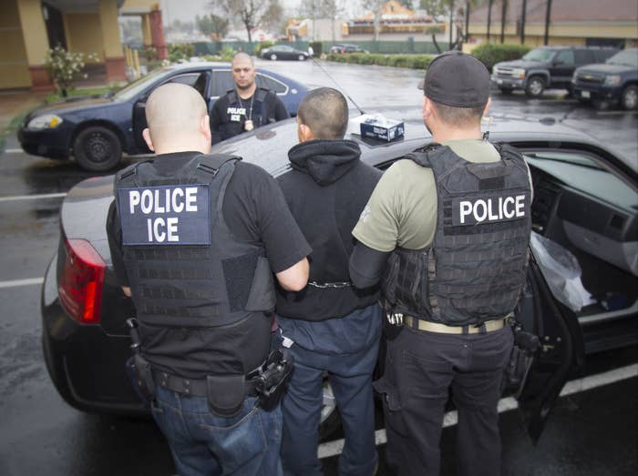 Foreign nationals were arrested during a targeted enforcement operation by U.S. ICE in Los Angeles in February.