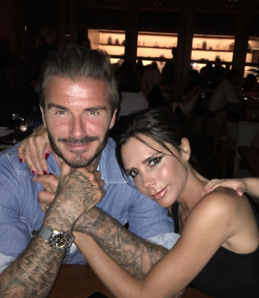 Kicking around a soccer ball in the backyard with Victoria and David Beckham is a win for me.